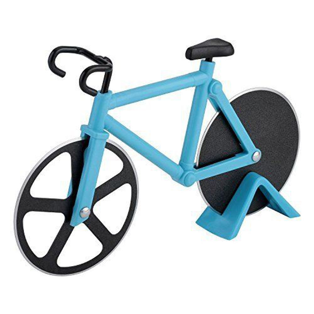 Adorable Pizza Cutter Bikes Across The Pizza This Pizza Cutter Is