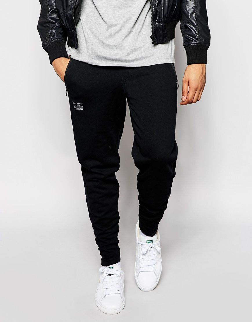 Sweatpants by Jack & Jones Loop-back sweat Drawstring waistband Side  pockets Brand patch to