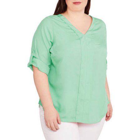Plus Size Millennium Women S Plus 3 4 Sleeve Vneck Blouse Size 1xl