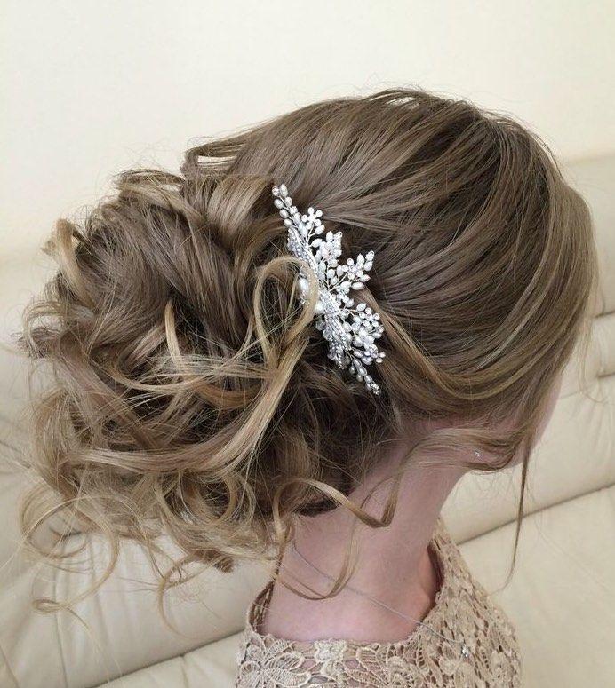 peinados recogidos para novias con accesorios simples pero bellos - Recogidos De Novias