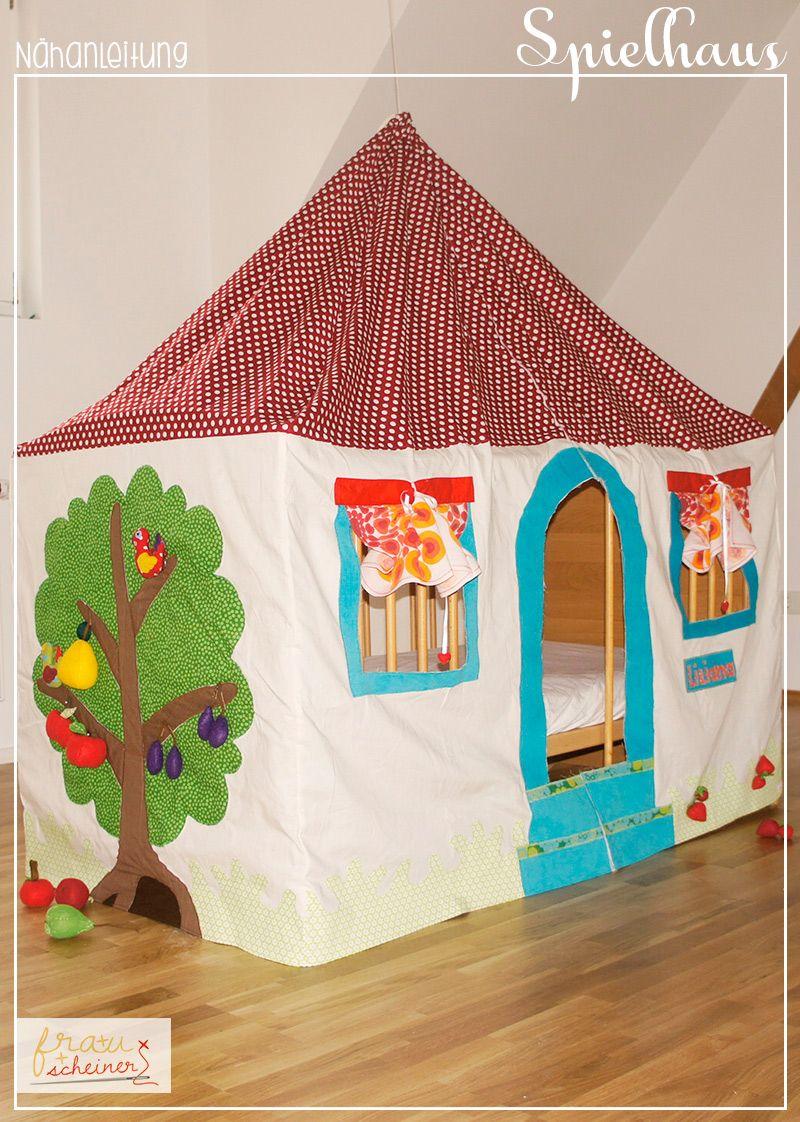 spielhaus und betthimmel diy zelte und h user f r kinder selbermachen pinterest spielhaus. Black Bedroom Furniture Sets. Home Design Ideas