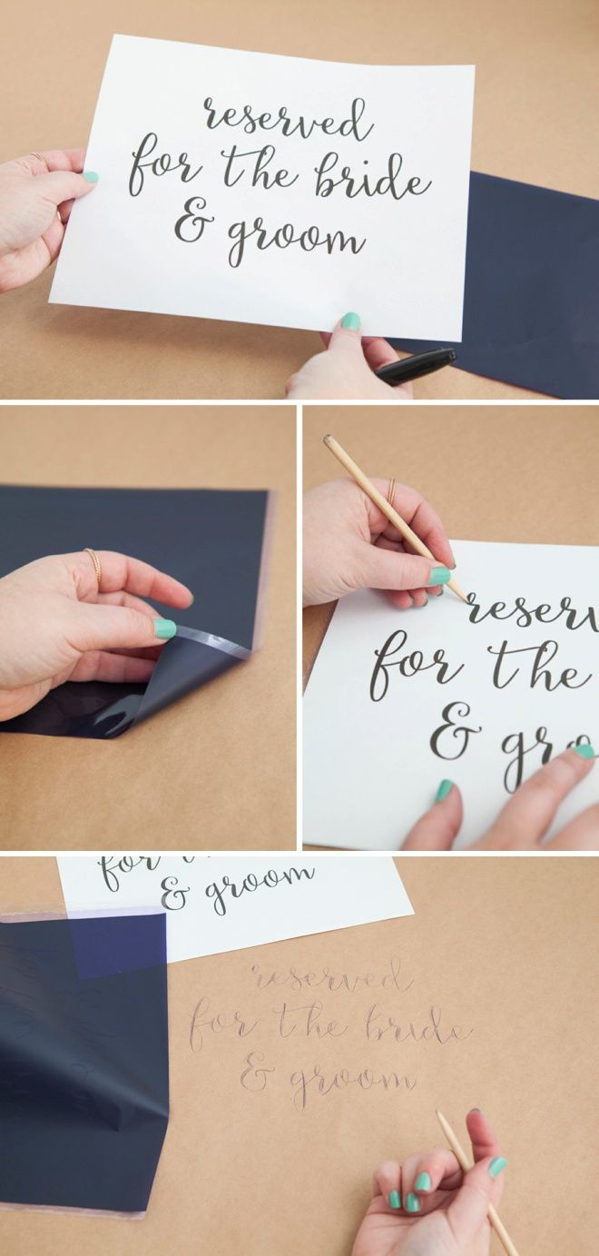 Turn Kraft Paper Into The Most Awesome Tablecloths!   Transfer paper ...