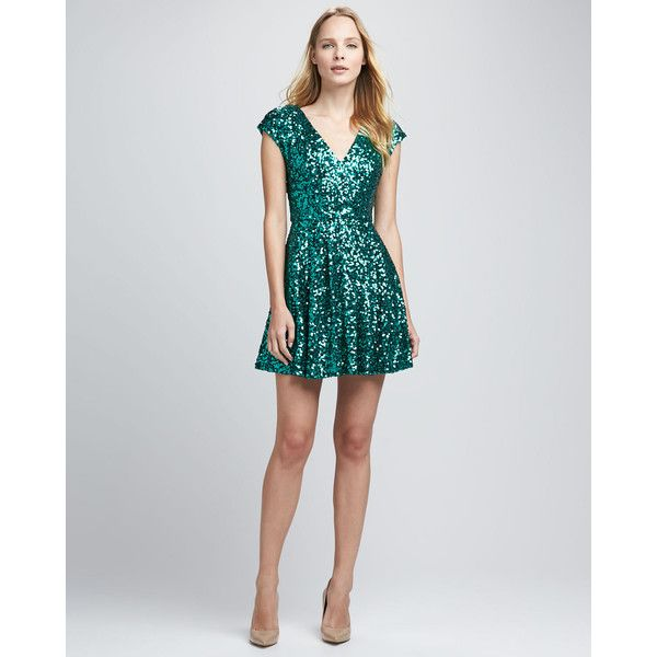 101fbb46 French Connection Spectacular Sparkle Cap-Sleeve Dress $228 | Out on ...
