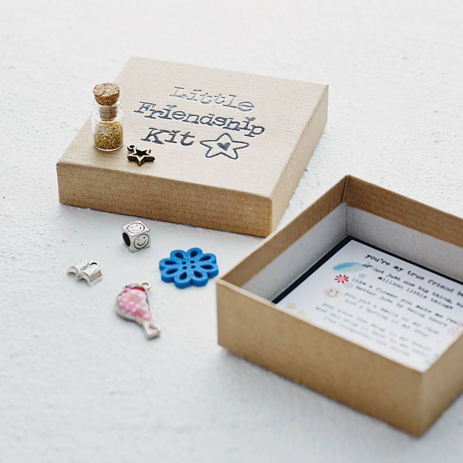 Personalised Little Friendship Kit From Notonthehighstreet Gifts For Friends Diy