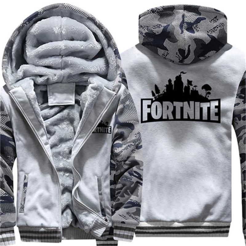 d94eabb41 Fortnite Hoodies Sweatshirts For Men Thick Fleece Camouflage Jacket ...