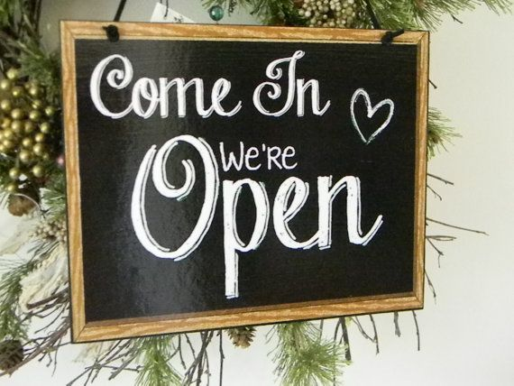 Come In We Re Open Sorry We Re Closed Two Sided Etsy Flower Shop Florist Shop Flower Boutique