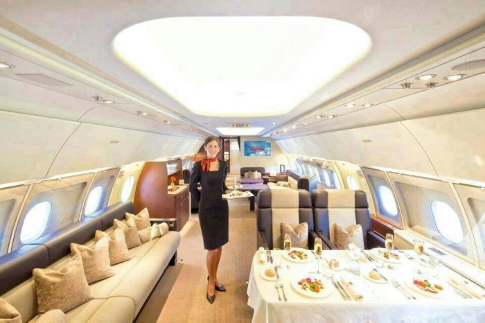 Inside a Business Class Plane.....