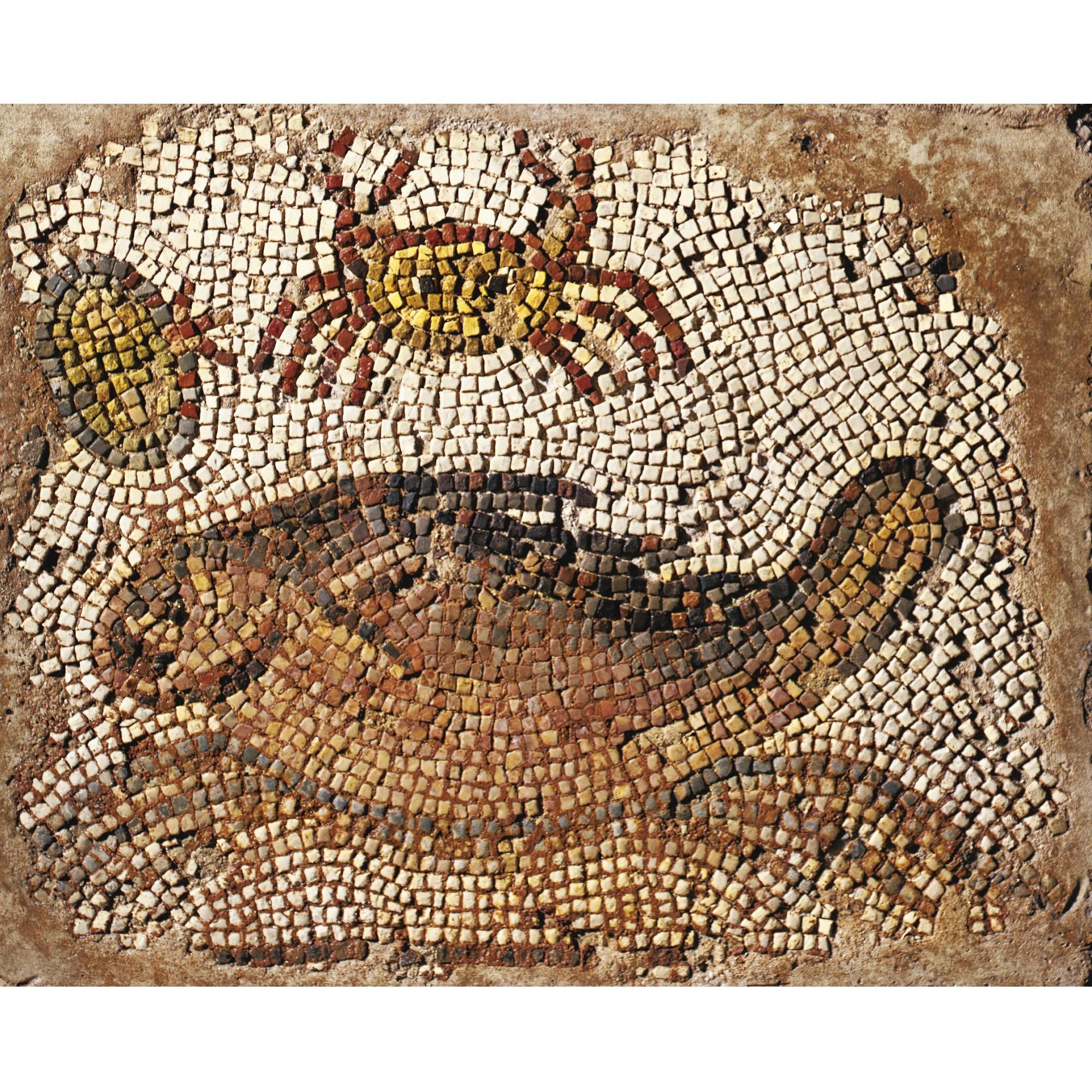 A Byzantine Mosaic Fragment with Crab and other Marine Animals, Syria, 5th/6th Century A.D. | lot | Sotheby's