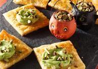 Bewitching Cheese Bites #iloveavocadosforhalloween