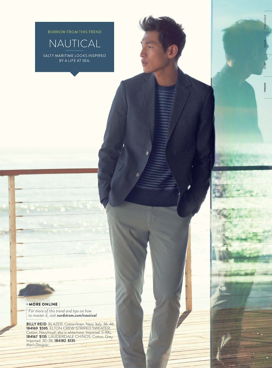 blue blazer w/grey chinos striped sweater | Mens clothes ...