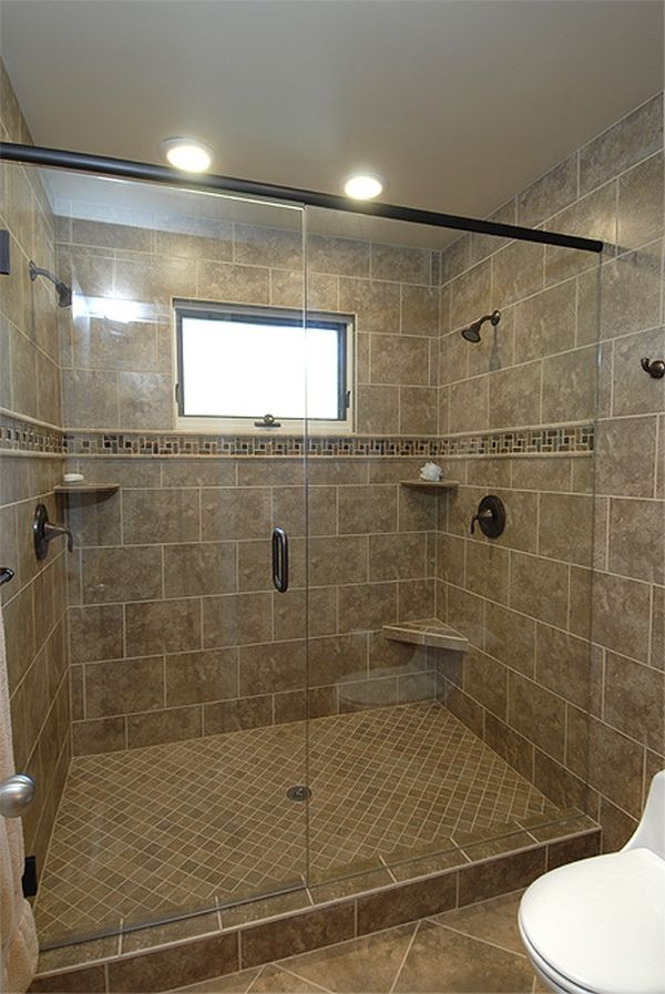 showers with no doors bathrooms designs | These are some ideas I had ...