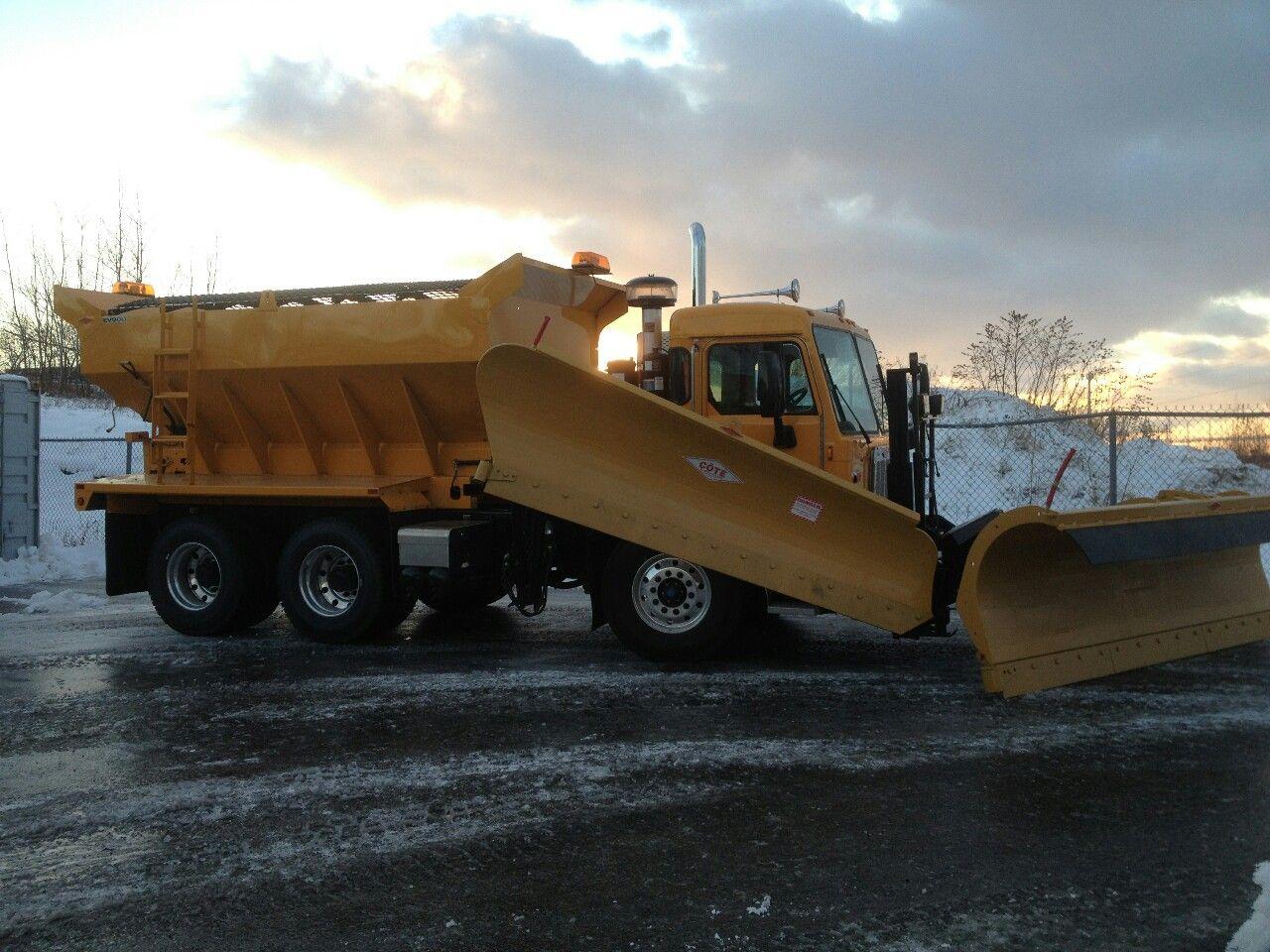 Coe Peterbilt 320 Plow Truck With Images Plow Truck Trucks