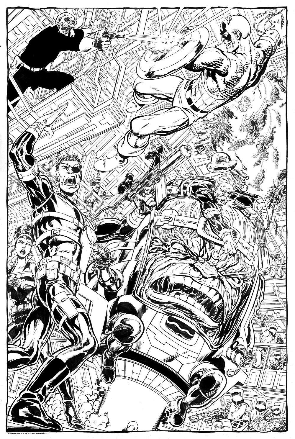 Captain America & Nick Fury vs Modok & Red Skull by John Byrne ...