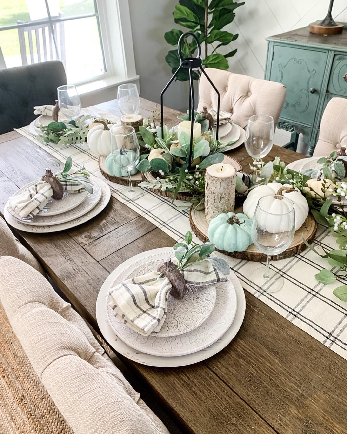 Kirkland S Inspiration Fall Dining Table Dining Room Table Decor Farmhouse Dining Room Table