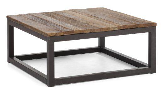 Amazon Com Zuo Era Civic Center Square Coffee Table Distressed