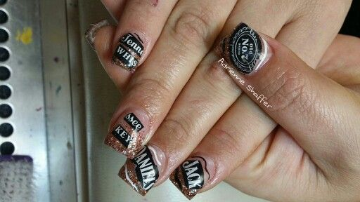Jack daniels whiskey nails nails nails and more nails by me jack daniels whiskey nails prinsesfo Choice Image