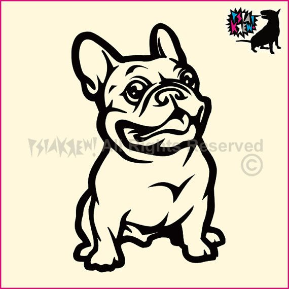 French Bulldog wall decal by PSIAKREW on Etsy | I WANT ...