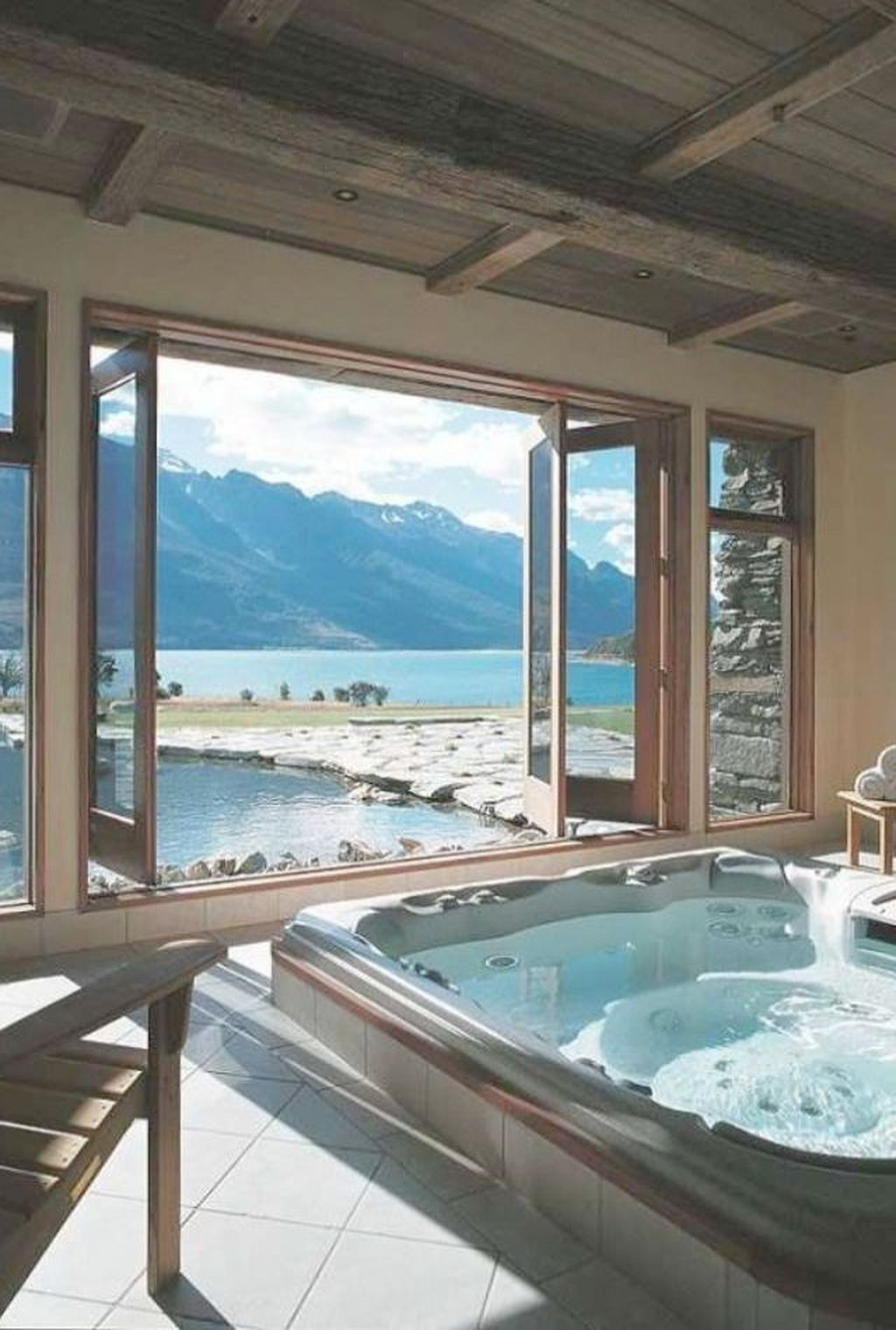 Badezimmer ideen whirlpool  lovely elegant spa bathroom ideas  wohnideen  pinterest