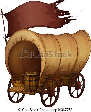 Vector Black And White Download Covered Cliparts Free - Oregon Trail Wagon  Clip Art - Png Download (#7974) - PinClipart