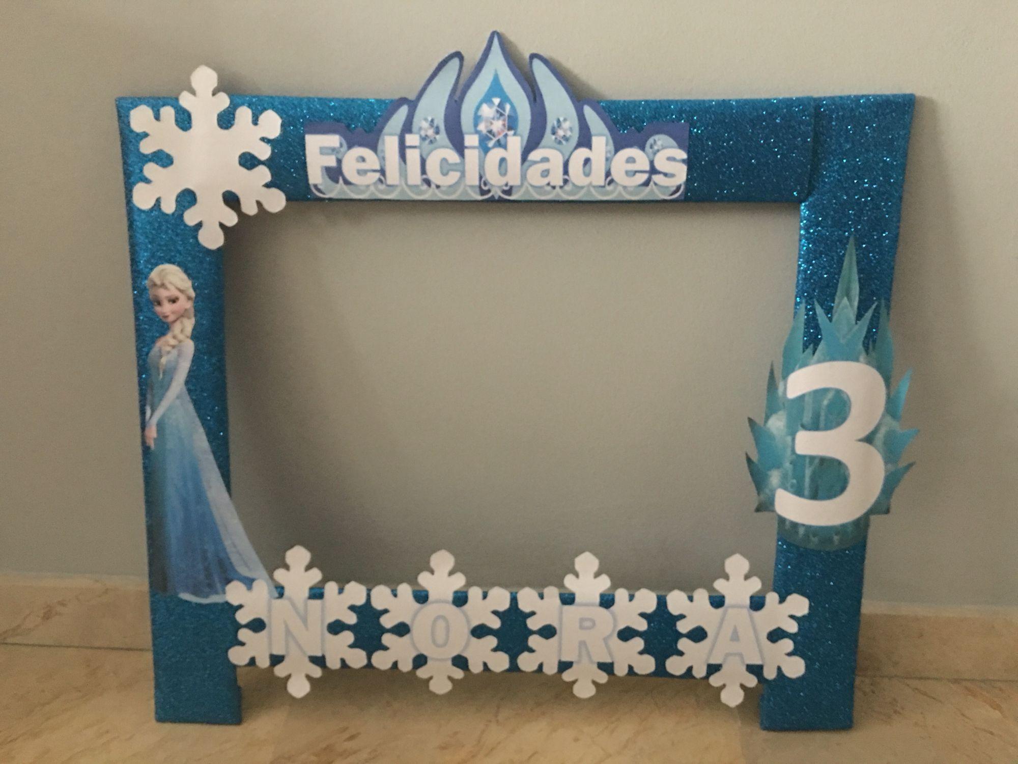 Frozen marcos fotos pinterest fiesta frozen fiestas for Decoracion de marcos para fotos