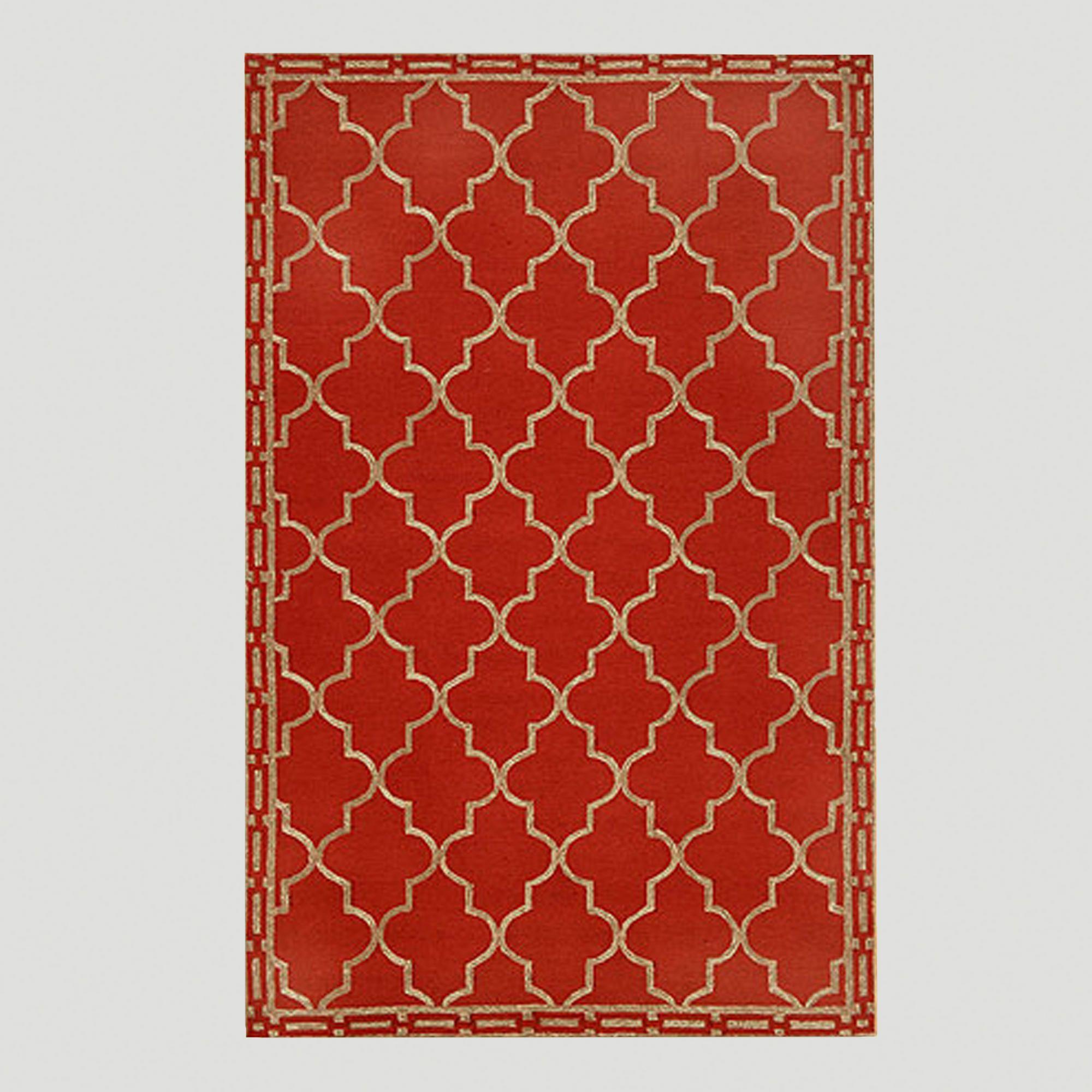 Red Floor Tile Indoor Outdoor Rug World Market 5x7 280