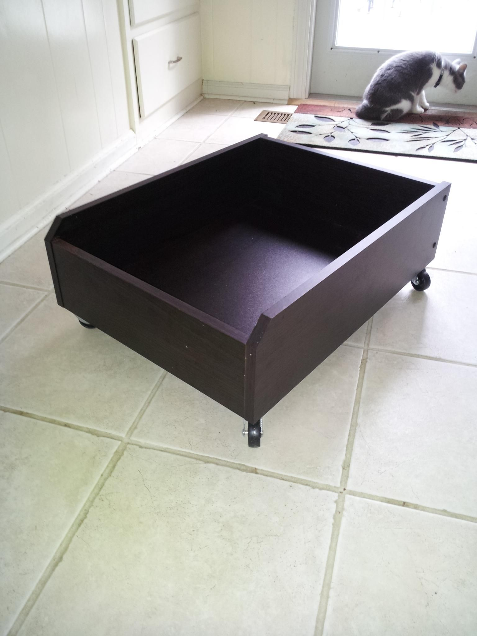 storage under a crates drawers on your rolling drawer build passion own bed crate underbed remodelaholic diy