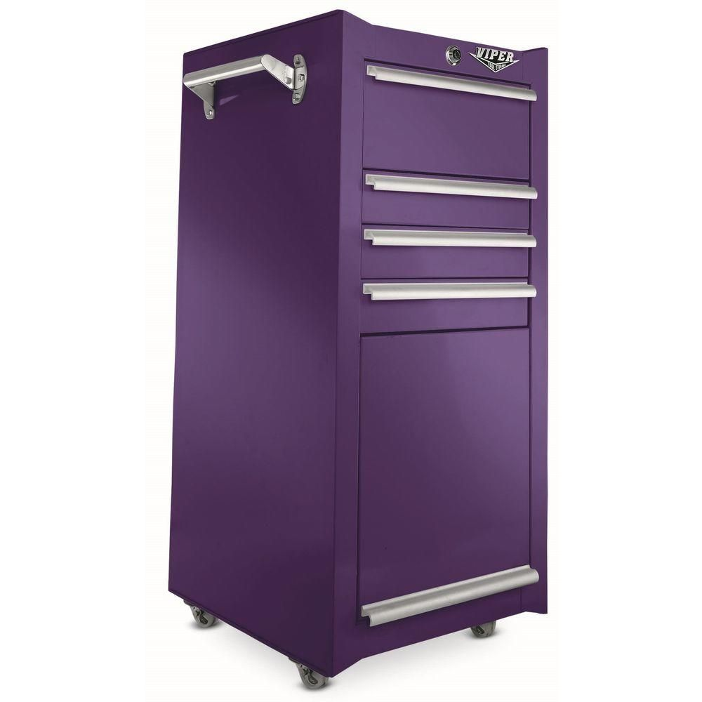 Nice Viper Tool Storage 16 In. 4 Drawer Tool/Salon Cart In Purple V1804PUR At  The Home Depot