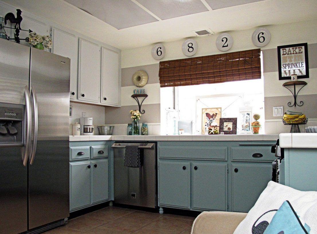 Cortinas de la cocina de color amarillo y gris - Cortinas Marineras Buscar Con Google