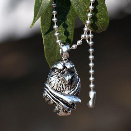 Tiger Totem Fashion Personalized Eagle Head Men titanium steel small  pendants Long Chain Necklace Women Trendy Sweater Accessory  Affiliate 7715737b7a8
