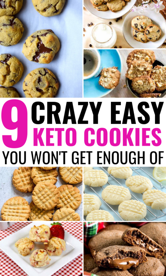 9 Keto Cookie Recipes That Are Quick & Easy To Make And Taste *Incredible* #ketocookierecipes