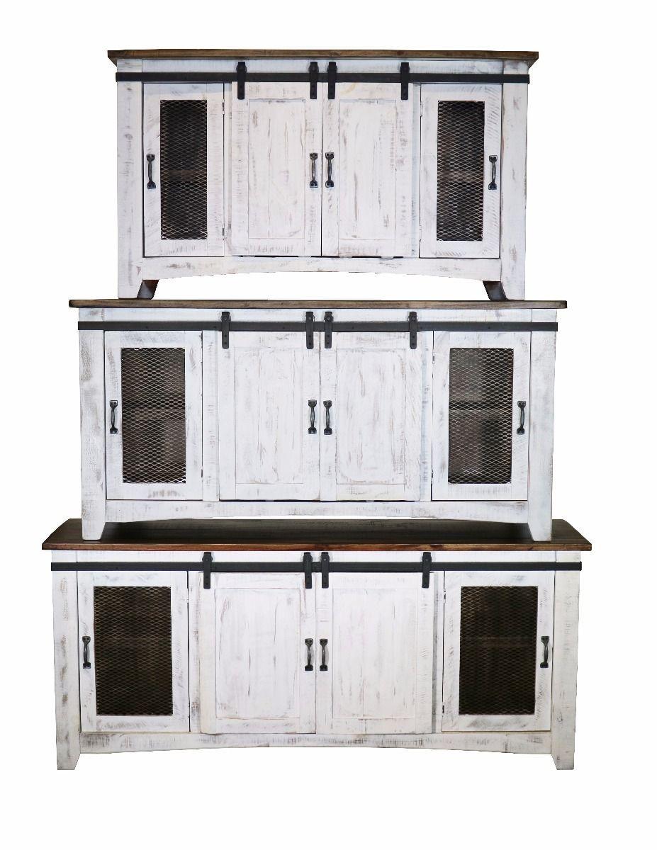 Eliza White Barn Door TV Stand