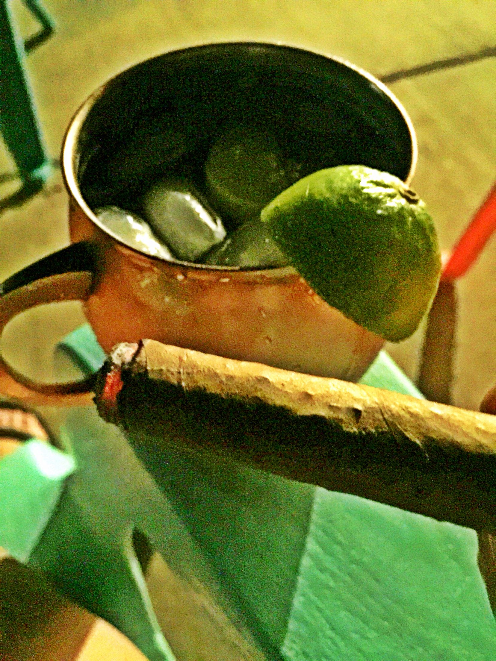 A cigar and a mule with my love | life is grand