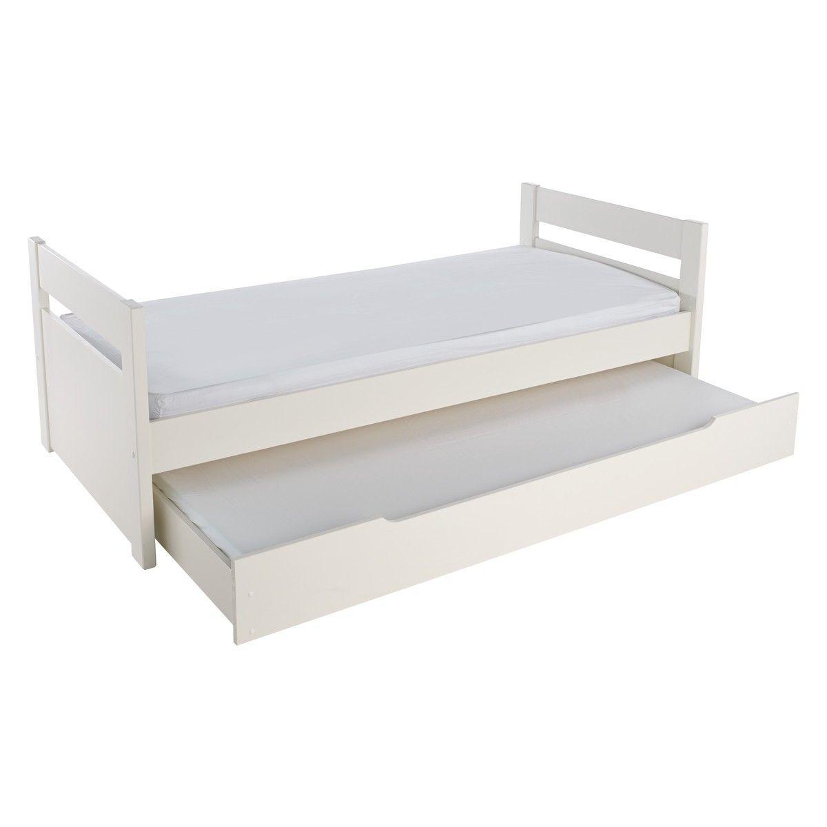 Pongo Kids White Eu Single Trundle Bed