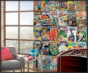 Comic Book Wall Murals marvel comic book mural   homie   pinterest   marvel comic books