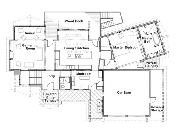Floor Plan For Main Level Of Hgtv 2011 Dream Home House Floor Plans Dream House Plans Dream House Drawing