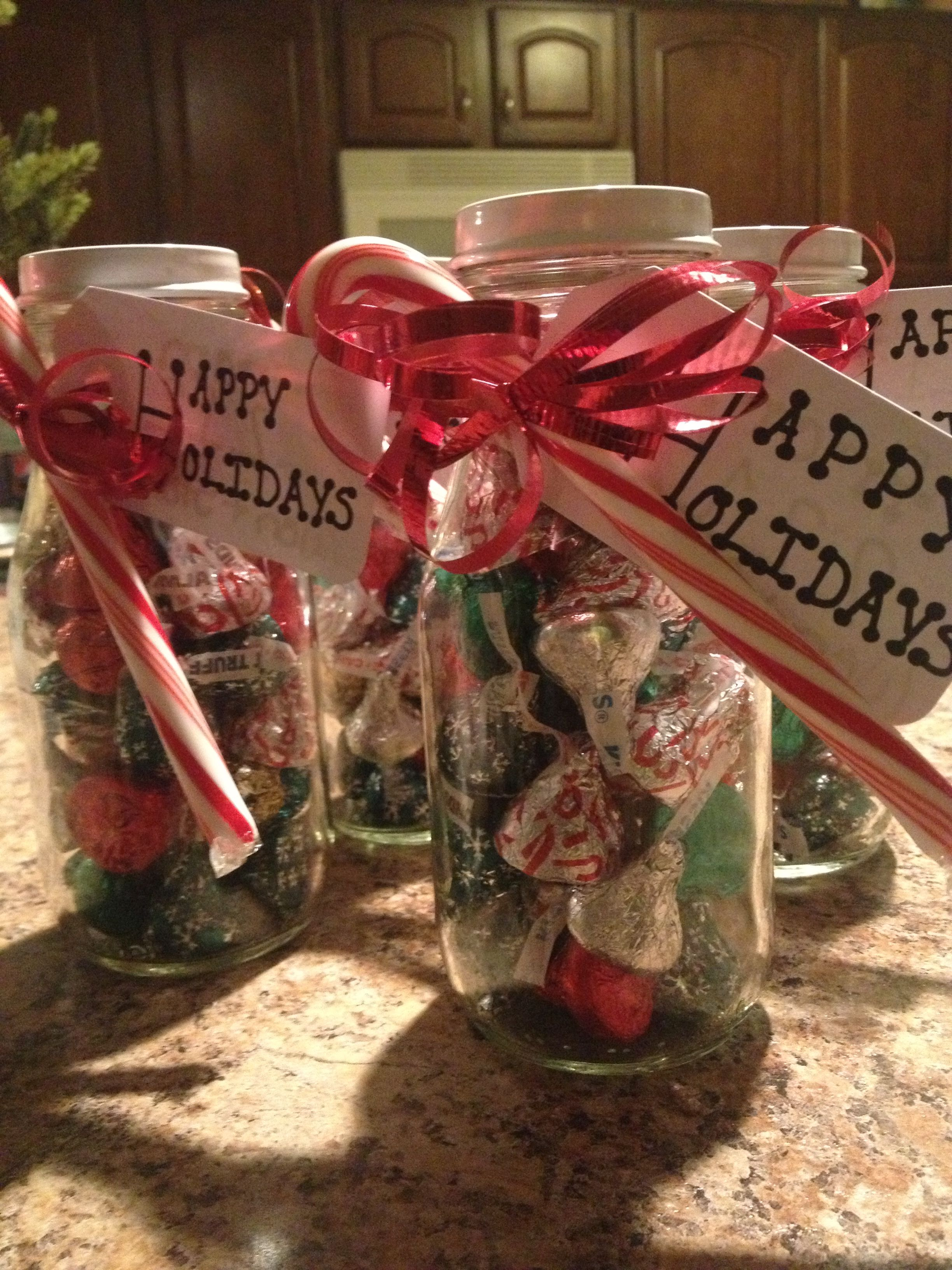 Fill a starbucks frappuccino glass with candy for a nice