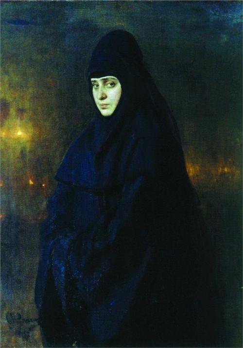 Nun, Ilya Repin, 1887