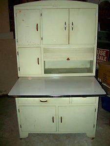 Antique Hoosier Kitchen Cabinet, Showers Brothers | Vintage ...