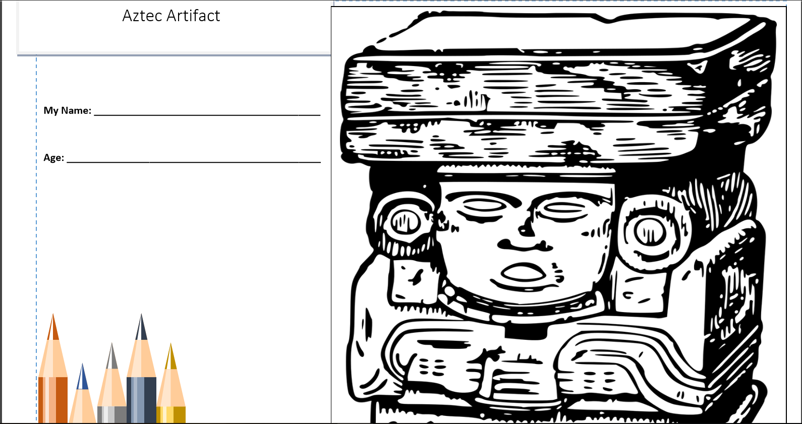 Hispanic culture coloring pages. See more at http