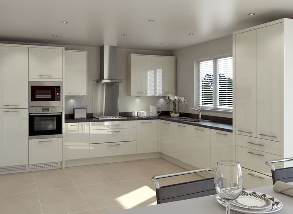 Woodbury Gloss Ivory | Home decor | Pinterest | Kitchens, House and ...
