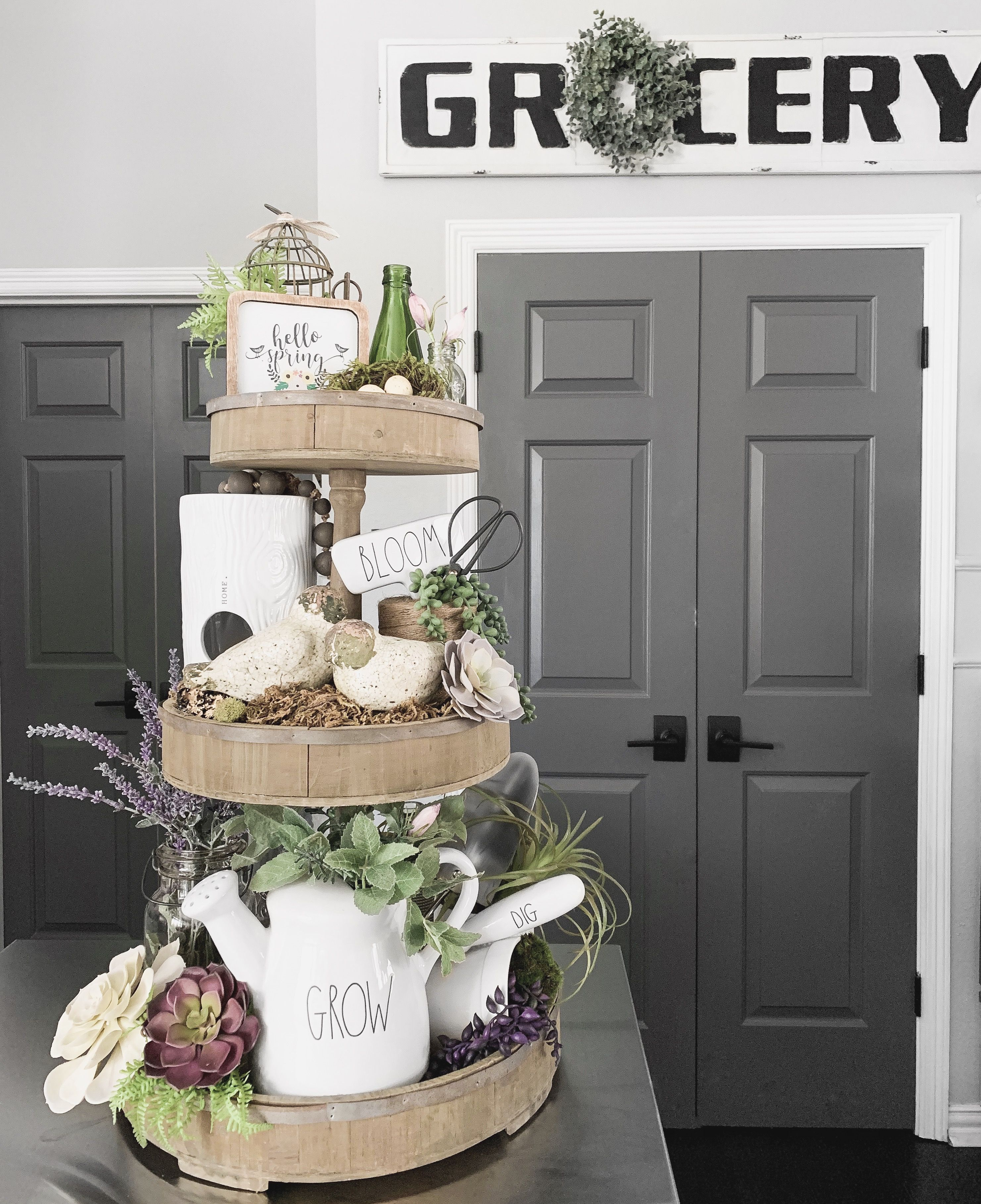 The Spring 2019 Tiered Tray Tiered Tray Decor Tiered Tray Coffee Bars In Kitchen