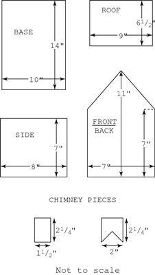 gingerbread house blueprints