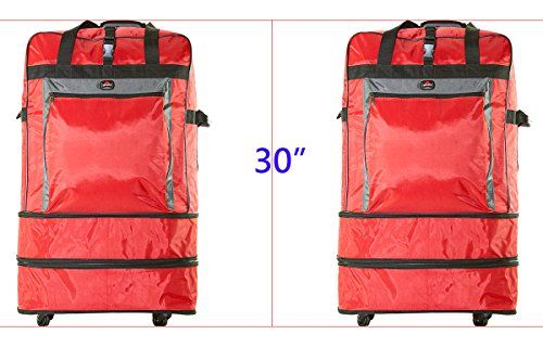 amaro 53002 Pack of 2 30 Expandable Wheeled Bags Rolling Duffel Spinner Luggage big main compartment red * Check out the image by visiting the link. (Note:Amazon affiliate link)