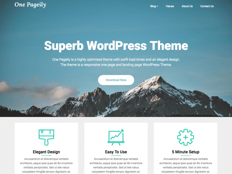 Download Free One Pageily WordPress Theme Best Free Wordpres