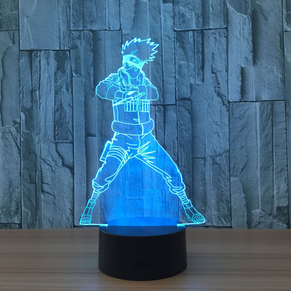 Naruto Action Figure Kakashi 3d Led Night Light Table Lamp 3d Novelty Nightlight Decoration For Child Gift 3d Led Night Light Led Night Light Light Table