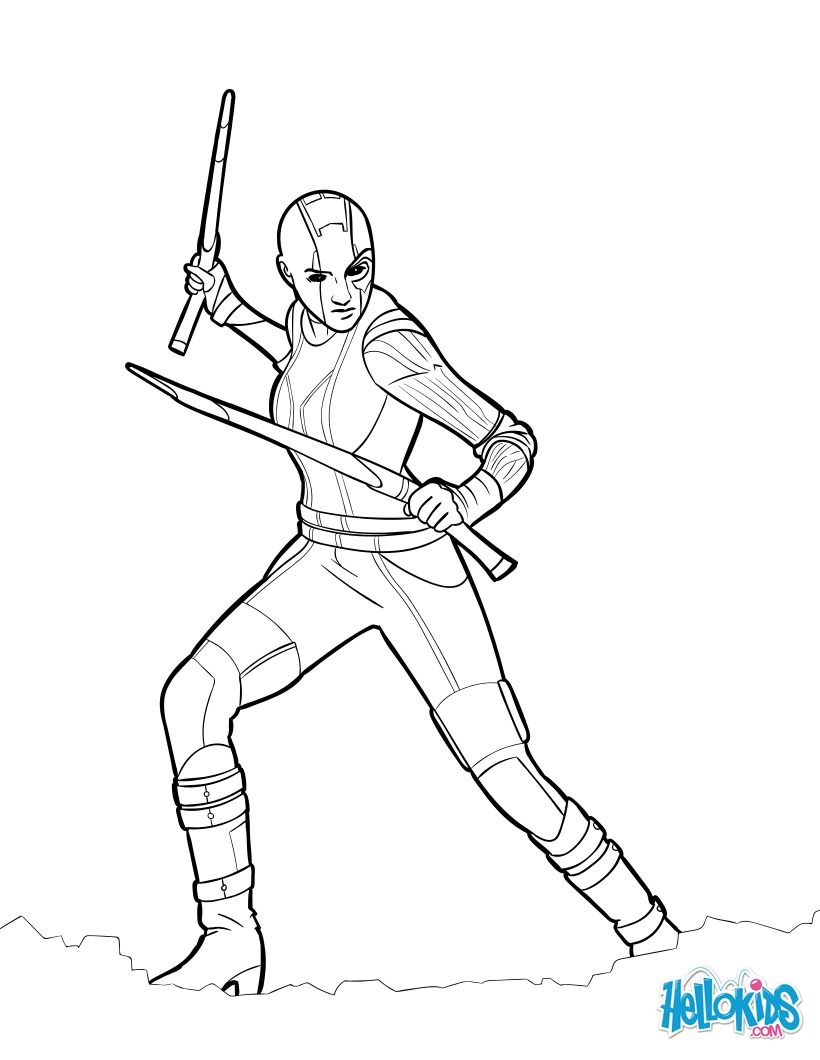 Beautiful Coloring Page Of The Famous Movie Guardians Of