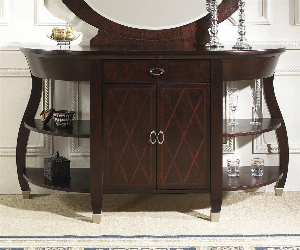 Contemporary buffet table furniture - Contemporary Furniture Furniture Modern Contemporary Furniture Walnut Brown Buffet Furniture