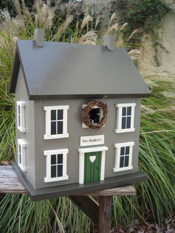 Personalized Birdhouse Gift for Wedding Housewarming Anniversary Birthday in River Stone on Etsy, $145.00