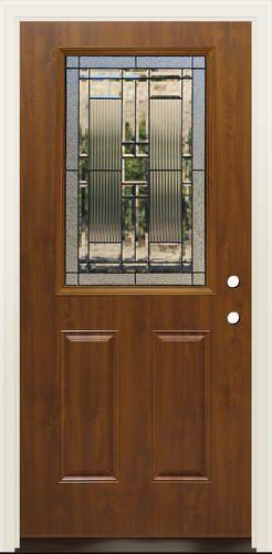 Mastercraft Lakeside 36 X 80 Steel Dark Oak Half Lite Ext Door
