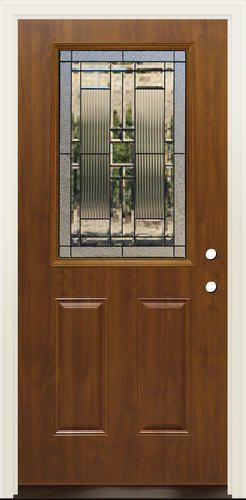 Mastercraft lakeside 36 x 80 steel dark oak half lite - How to frame a prehung exterior door ...